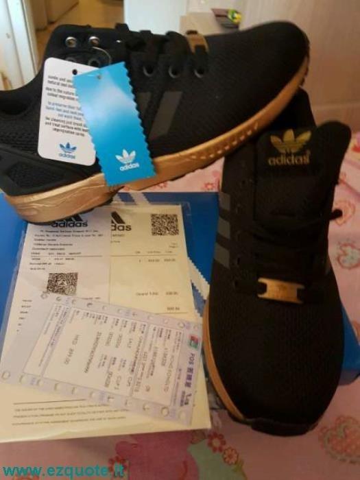 adidas zx flux nere e fluo