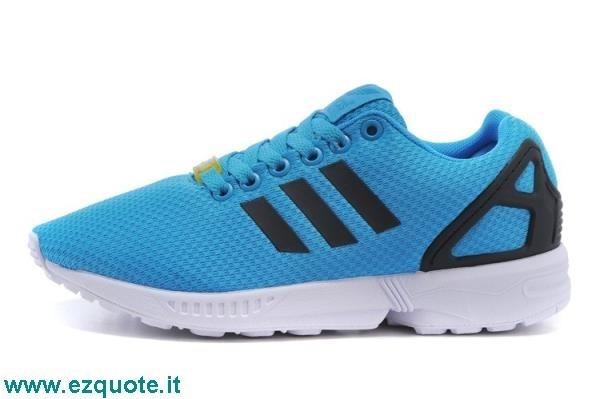 adidas zx flux blu e bianche