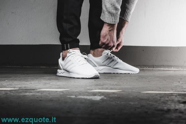 zx flux adidas bianche