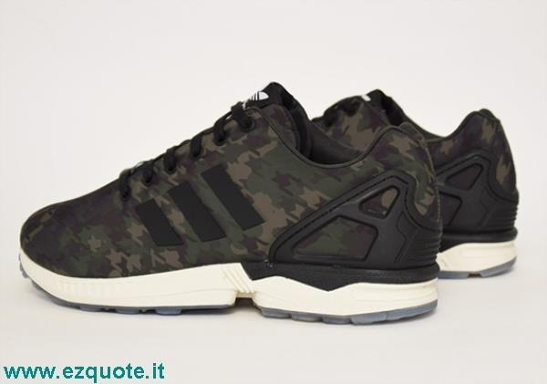 adidas zx flux camouflage verde militare
