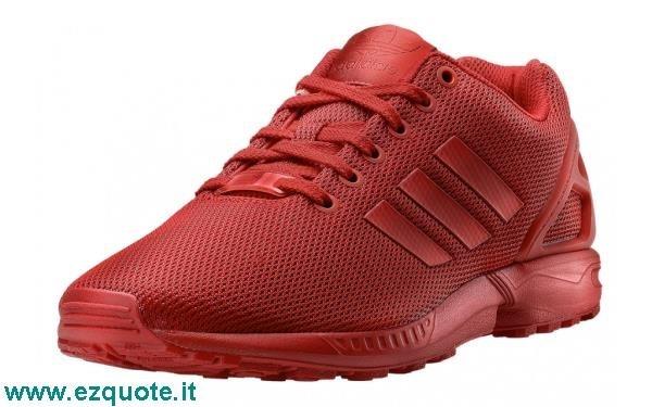 adidas zx flux rosse