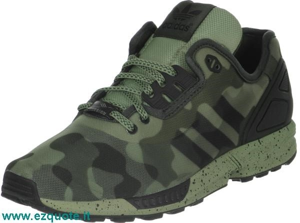 adidas zx flux verde militare