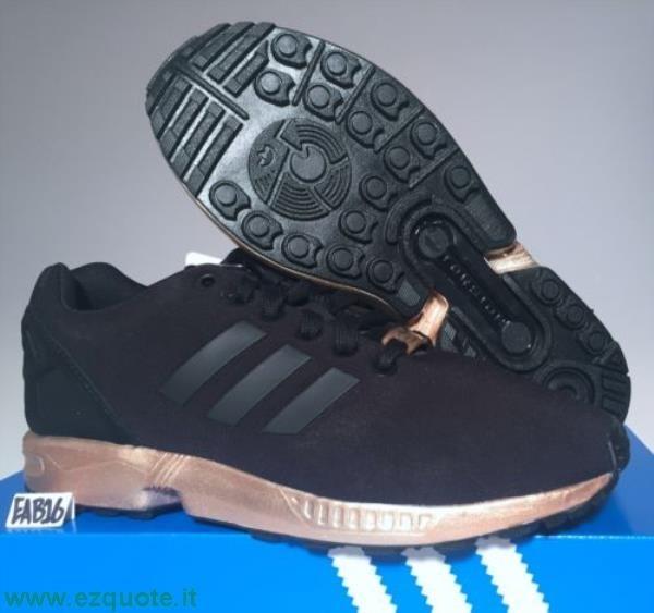 adidas nere e oro zx flux