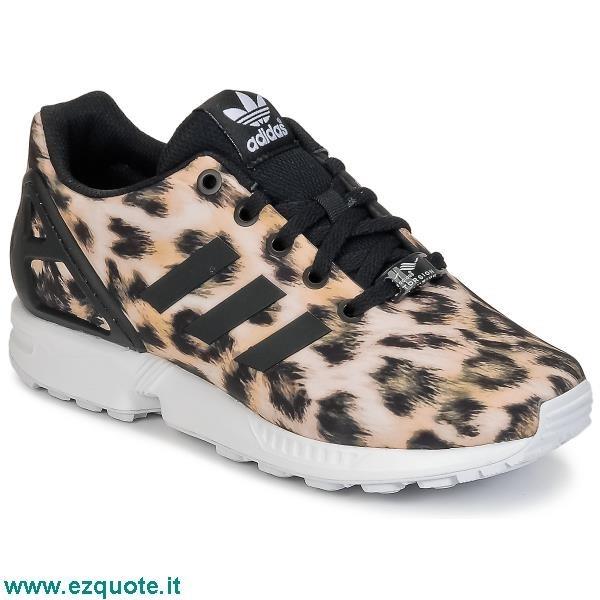 adidas zx flux bambina leopardate