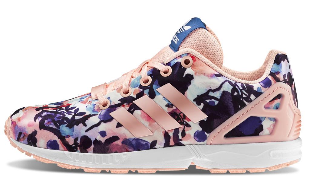 adidas zx flux floral rosas