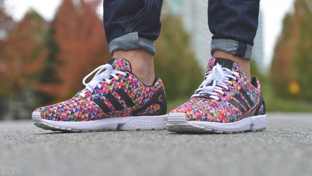 newest 14f2e b2ca7 adidas zx flux multicolor negozio