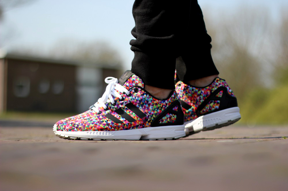 Adidas Originals Zx Flux Multicolor Prisms