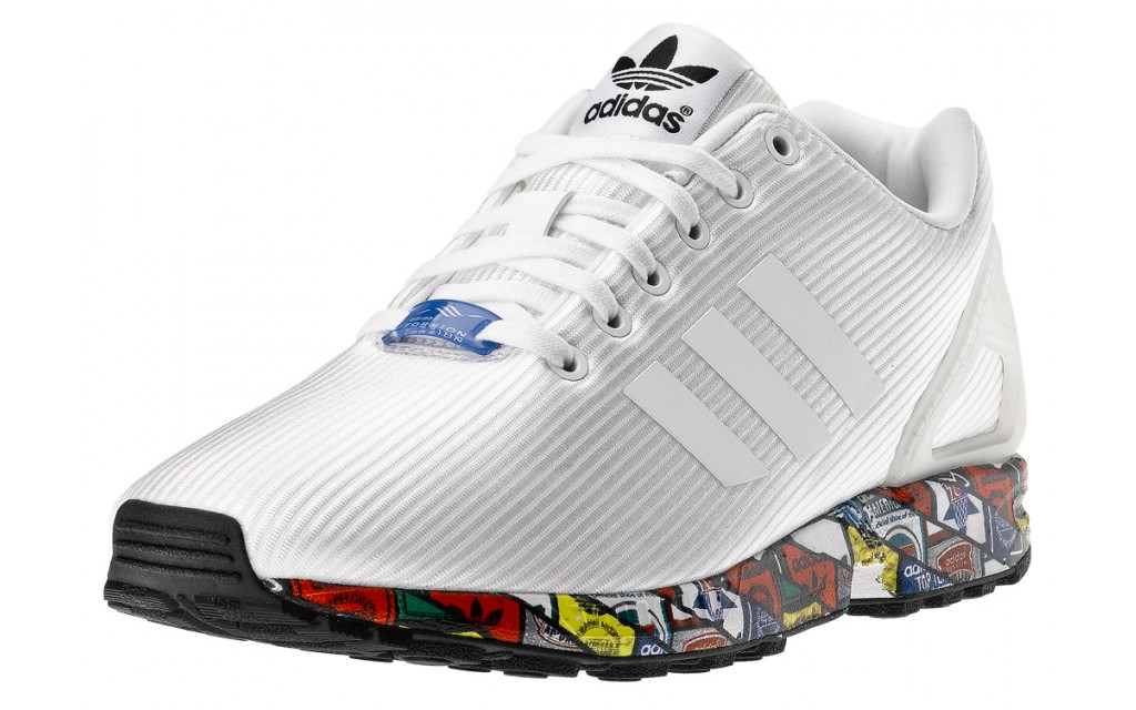adidas zx flux weave bianco