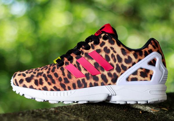 adidas flux leopard rose