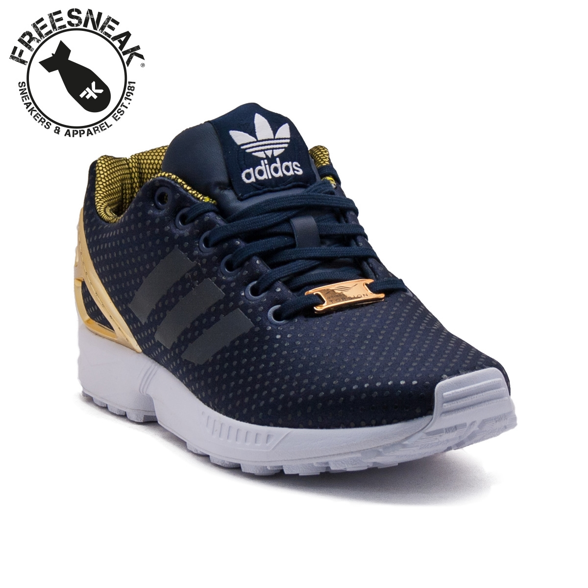 adidas zx flux nere e dorate