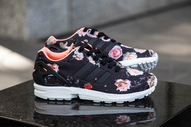 adidas zx flux nere con rose