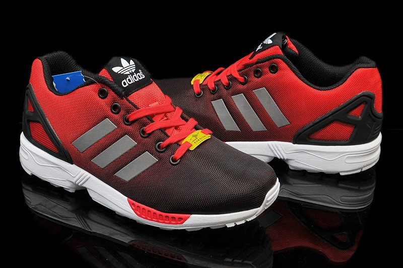 adidas zx flux all red 44