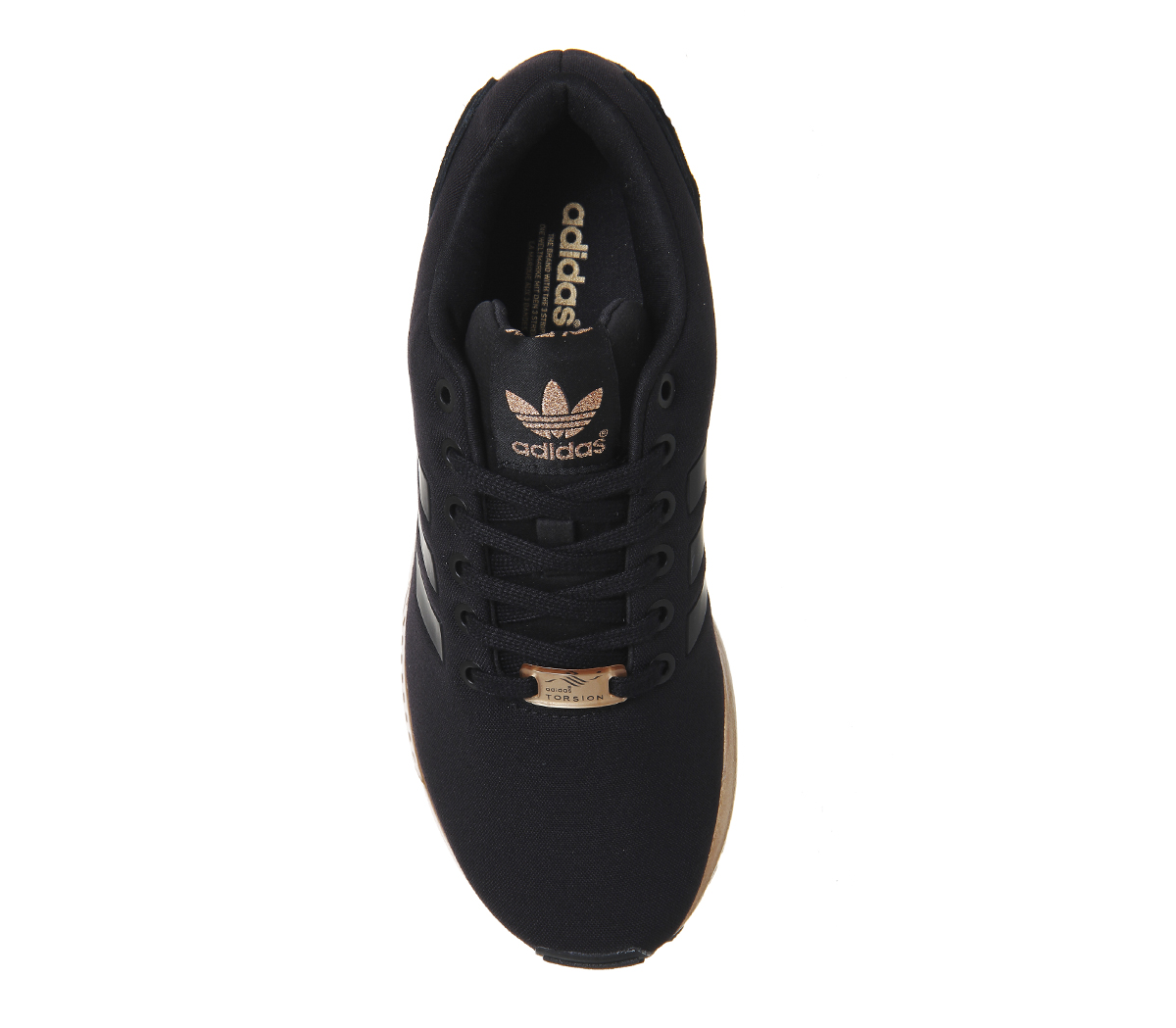 cheap adidas zx flux mujeres negro and rose oro 56572 ee9a5