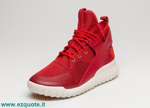 adidas tubular x rosse